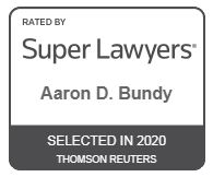Logo Recognizing Law Office of Aaron D. Bundy, PLC's affiliation with Super Lawyers